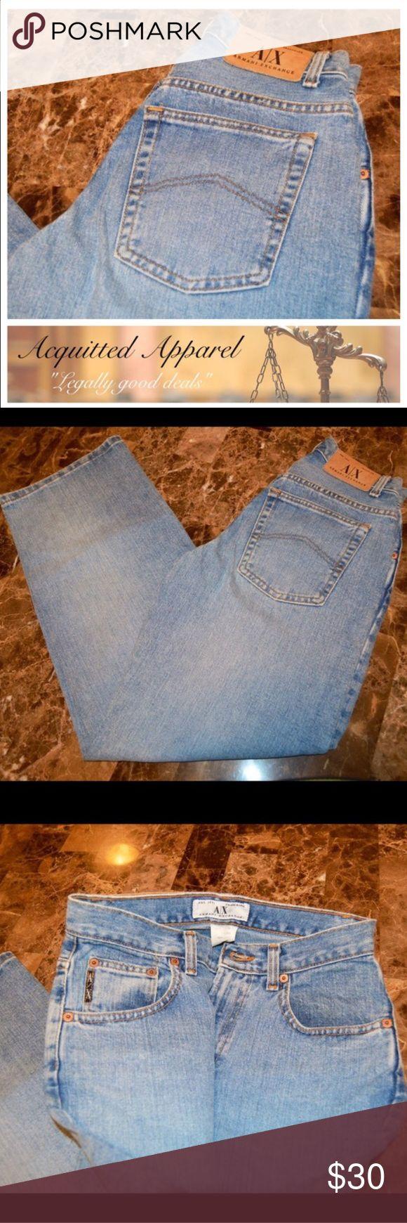 Armani Mom Jeans High Waisted Straight Leg Armani Exchange A|X Jeans Size 2 Mom jean high waisted vintage style. Armani Exchange Jeans Straight Leg
