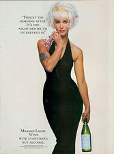 Paula Yates in an ad for non-alcoholic wine