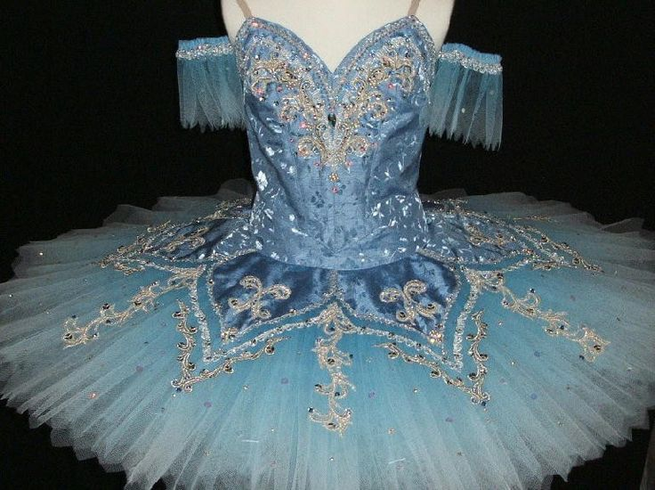 - Another unique, stunning new creation! This pale silver blue tutu has been created with many classical roles in mind: Blue Bird, Corsaire, Raymonda and many others. The blue silk shantung bodice fea