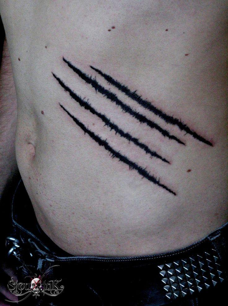 Claws Tears Tattoo - SiouxInk Tatouage Paris                              …