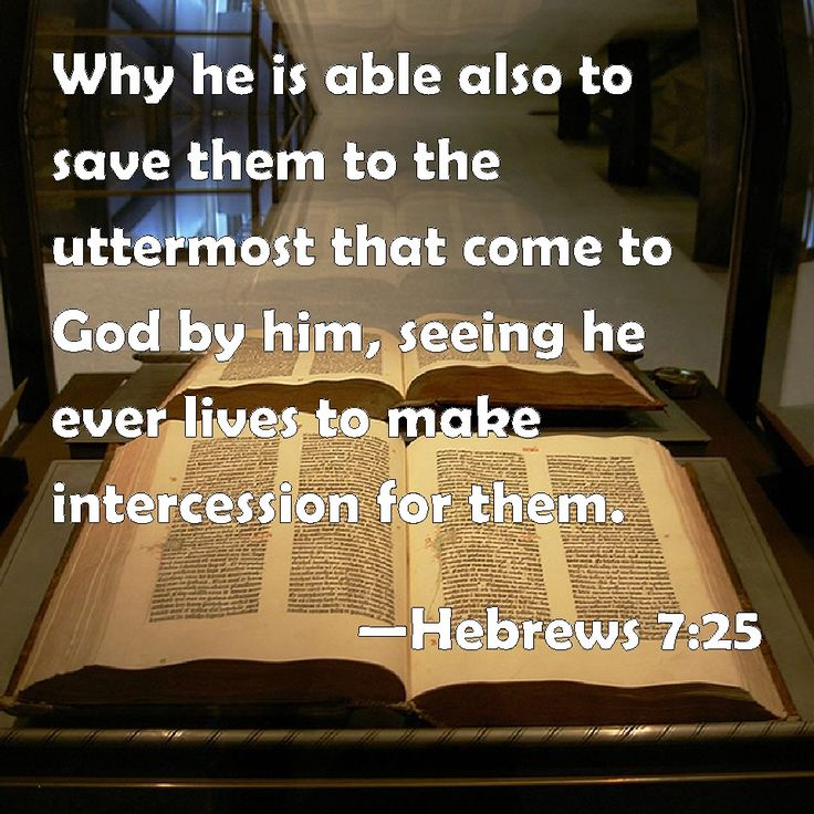 Bible (AMP)...25 Therefore He is able also to save forever (completely ...