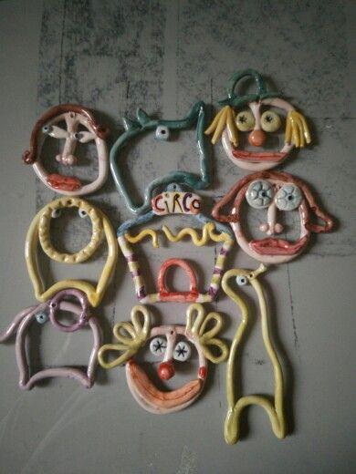 Facce da circo #ceramica