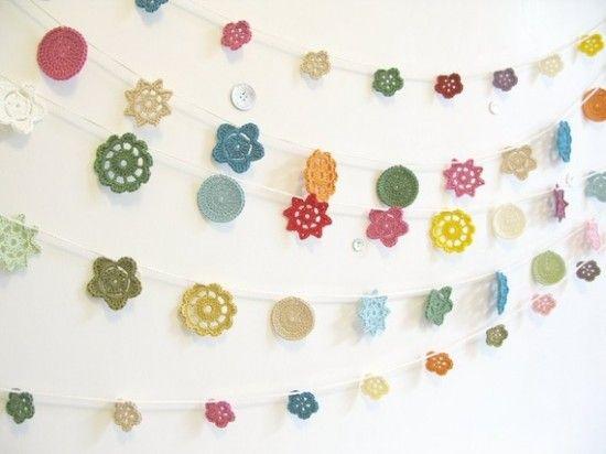 Cheerful crochet garlands