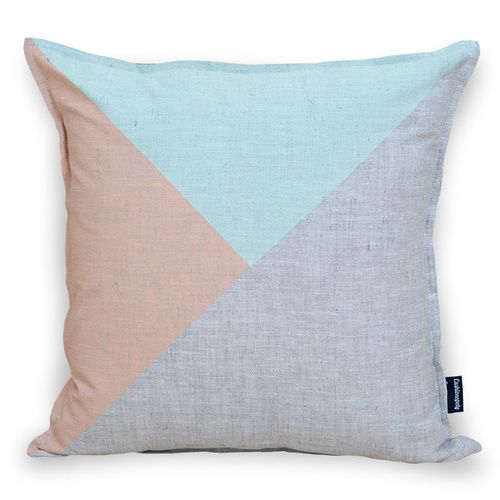 Two Up Cushion Peach/Mint