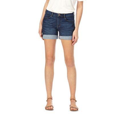 Red Herring Blue denim cuffed shorts | Debenhams