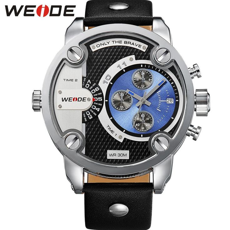 Free Shipping! New WEIDE Military Watches Men Sports Leather Strap Quartz Watch Luxury Brand 3ATM Oversize Diver WH3301B  #me #men #fashionweek #smartwatch #women #bags #groom #trendy #accessories #photooftheday #bride #graduation #love #sale #fashion