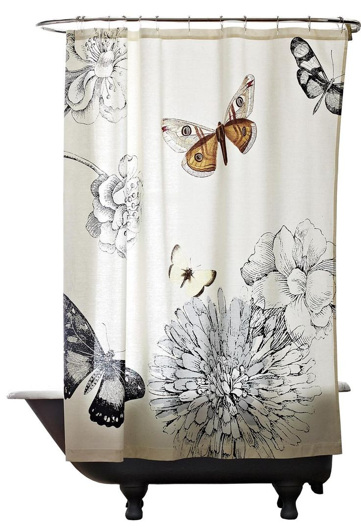 BUTTERFLY SHOWER CURTAIN, $49 at West Elm, 160 Brookline Avenue, Boston, 617-450-9500, and Wayside Commons, 6 Wayside Road, Burlington, 781-221-5626, westelm.com