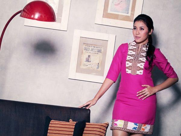 Fuschia Songket Dress