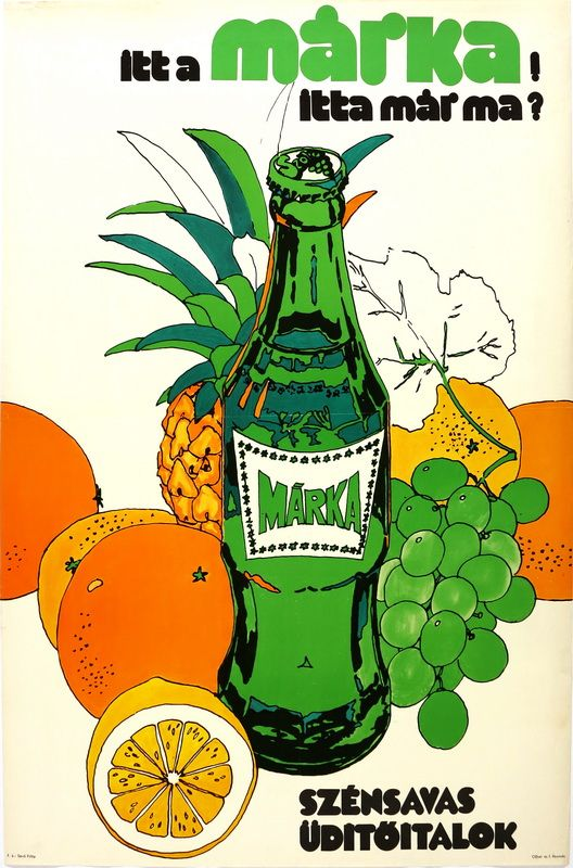 1970' commercial for the Márka fizzy drink, the 'Fanta' of communist Hungary.