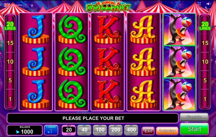 Besuche Online Zircus im Curcus Brilliant Spielautomat von IGT! Habe Spass mit dem tollsten tricks im online Curcus Brilliant!