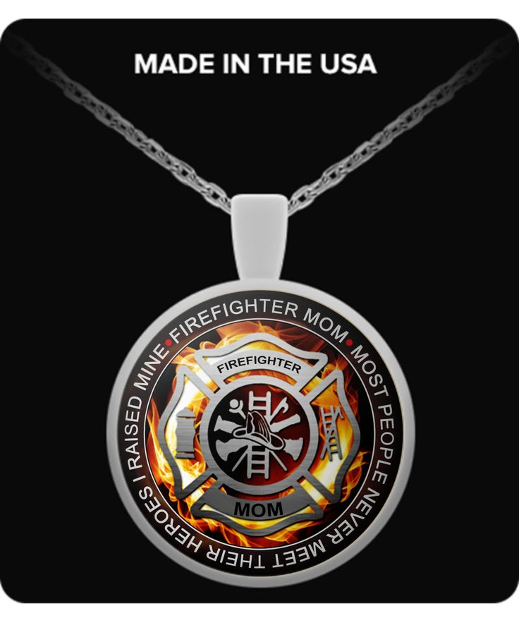 """Firefighter Mom Necklace - """"Most People Never Meet Their Heroes, I Raised Mine""""  #heronecklace #firefightermom #firefighternecklace"""