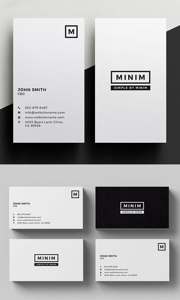Minim Simple Clean Business Card Business Cards Layout Graphic Design Business Card Business Card Design Simple