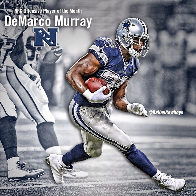 Congratulations to DeMarco Murray for being named the NFC Offensive Player of the Month for September! #DallasCowboys