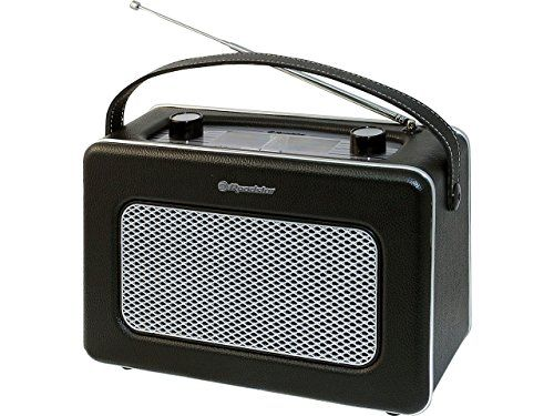 Roadstar TRA-1958/BK - Radio portátil diseño retro, sintonizador PO/FM, color negro (importado) - http://vivahogar.net/oferta/roadstar-tra-1958bk-radio-portatil-diseno-retro-sintonizador-pofm-color-negro-importado/ -