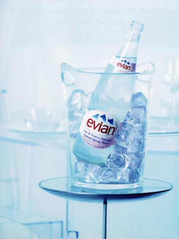 #Evian  Prop & Roomset Styling: Rachel Matthews Burton, Judy Inc