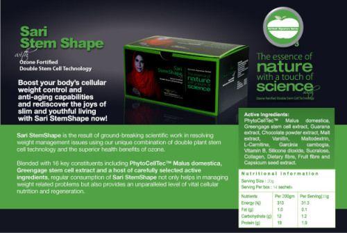 Aktifkan kembali mekanisme sel anti penuaan tubuh  serta meningkatkan pembakaran lemak dan temukan kembali  pesona usia muda Anda dengan Sari StemShape.