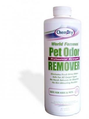 Be prepared to instantly tackle any stains or messes left behind by your pet with Chem-Dry Pet Odor Removal. This formula is designed to lift fresh, minor pet odors and stains from your carpet. This is the perfect tool to utilize between Chem-Dry cleaning appointments. Large, older pet stains will require a specialized treatment application from your Chem-Dry professional.