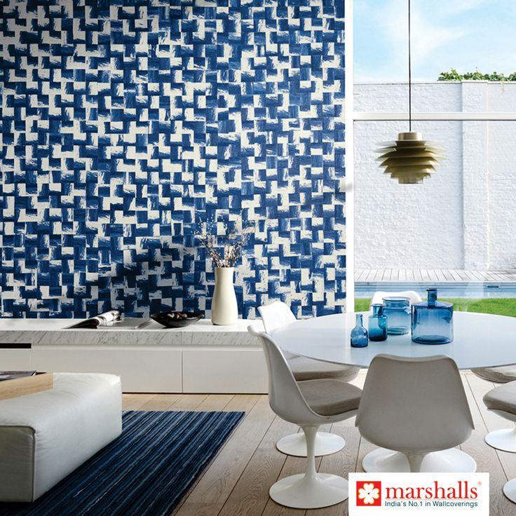 Bring a bit of Greek cityscape to your living space. Explore more on www.marshallswallcoverings.com #DesignerWalls #HomeDecor #HomeInterior