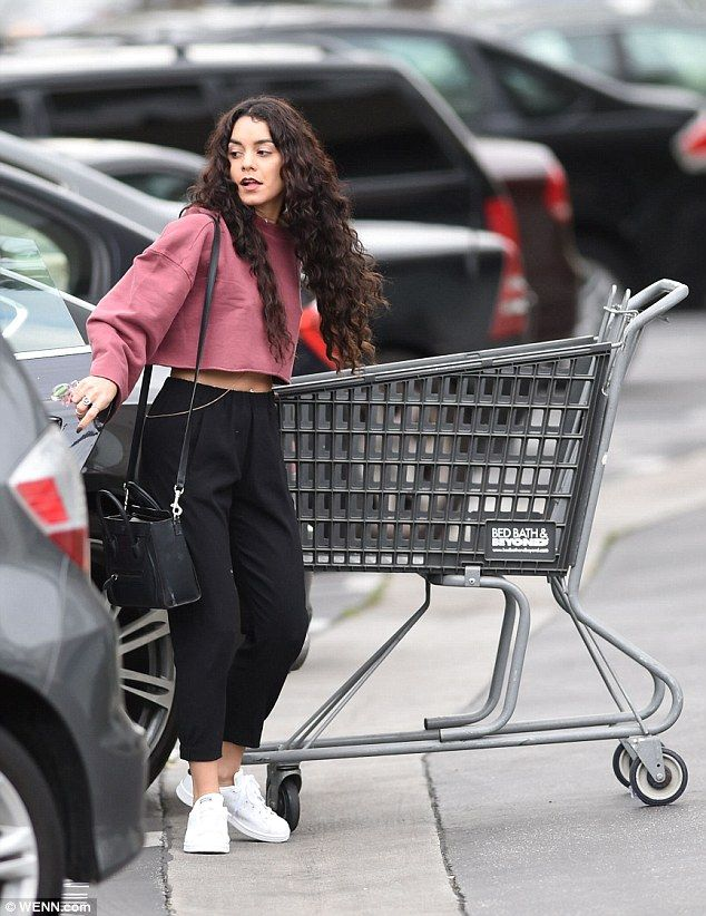 Back to reality: Vanessa Hudgens came back to reality with a bump on Sunday as she made a run to Bed Bath and Beyond after a sun-soaked week in Miami, Florida