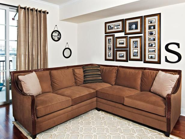 Family Room With Hardwood Flooring And Netural Sectional Sofa Designers Portfolio HGTV