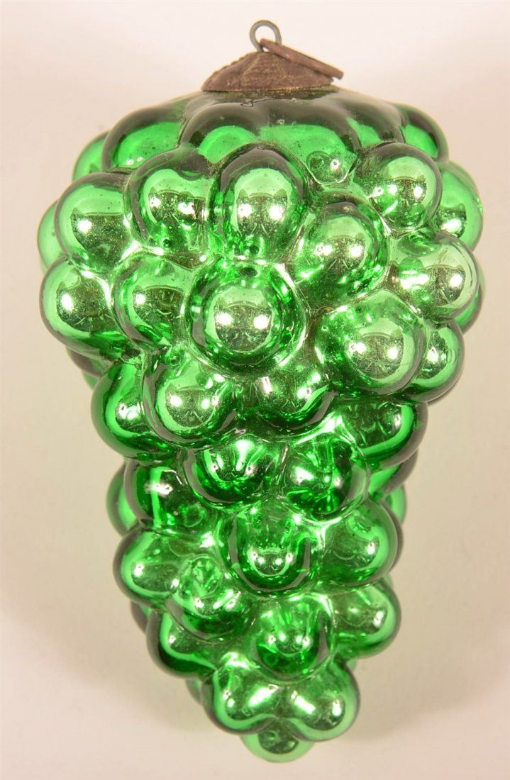 German glass ornaments - Antique German Kugel Ornament