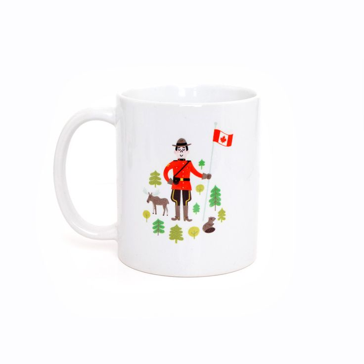 Canadian Mountie Mug by Jacqui Lee Illustration exclusively for Little Blue Canoe