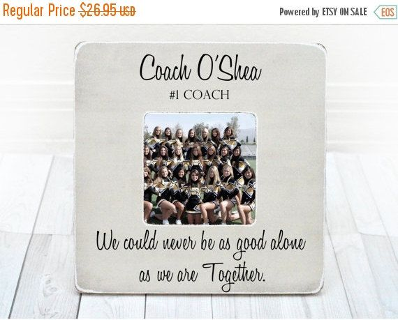 Coach Thank You Gift Coach Frame Cheer Coach Gift Picture Frame Personalized Gift Thank You from Team Cheerleading