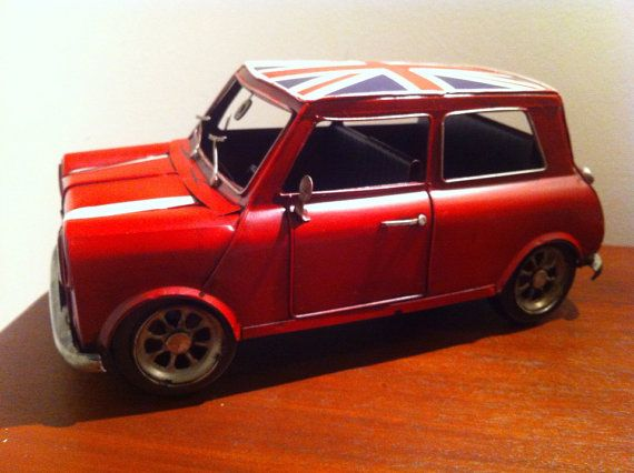 Mini Cooper Tin Metal Car Vehicle Miniature Toy by phantomas2011, $115.00
