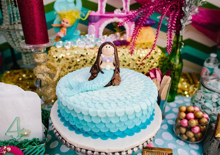 Mermaid Scale Cake