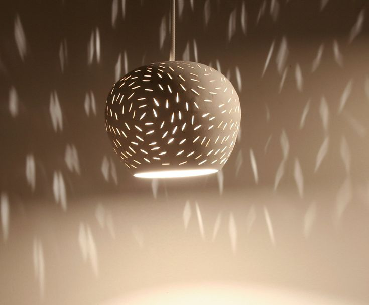 "Claylight Pendant Light, 5"" Line Pattern: Pendants Lamps, Bedrooms Lights, Ceilings Lights, Modern Ceramics, Claylight Pendants, Dots Pattern, Ceramics Pendants, Pendant Lights, Pendants Lights"