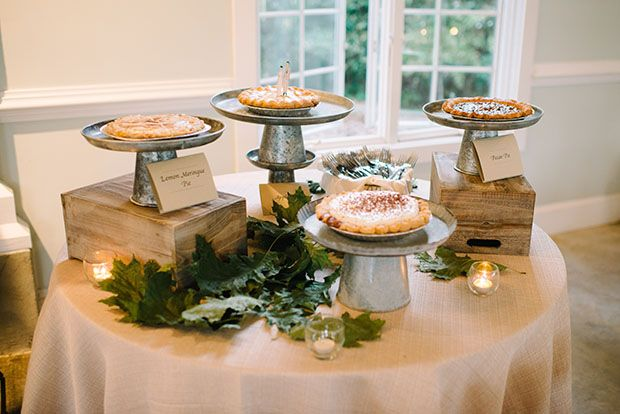 Wedding pie table! | onefabday.com