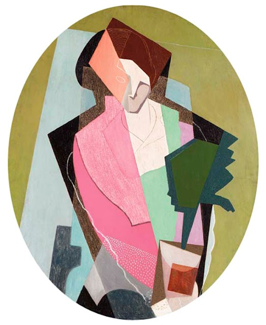 Woman With a Green Plant by Gino Severini.