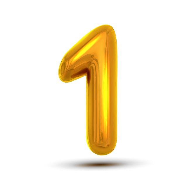 1 رقم واحد ناقلات ذهبية صفراء معدنية حرف الشكل رقم 1 حرف الأبجدية الطباعة تصميم عنصر حزب احباط رمز الأرقام مشرق لامع 3d واقعية التوضيح قصاصات فنية واحدة رقم Number