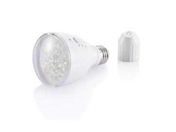 2 in 1 lamp die als gloeilamp en zaklamp te gebruiken is.