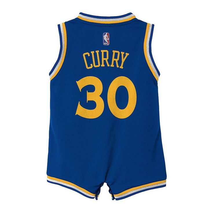 Baby Adidas Golden State Warriors Stephen Curry Jersey Bodysuit, Infant Unisex, Size: 12 Months, Blue