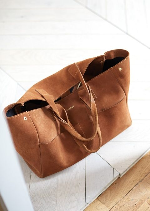 Sézane / Sac / Vadim / Sac / Leather / Cuir / Maxi / Brown / Mode / Tendance