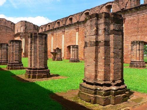 Jesus, Paraguay..RUINAS DE MISIONES JESUITICAS