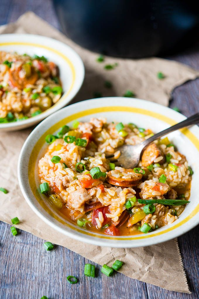 Pressure Cooker Sausage Jambalaya. This jambalaya made completely in the pressure cooker in less than 20 minutes is so packed with flavor that you'll be craving it day after day!