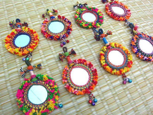 Tassel Mirror Decoration Tassel Decor Supply Handmade Supply Keychain Decorating Supply Tassel Decor Gypsy Accessories Bohemian Fashion by midgetgems on Etsy