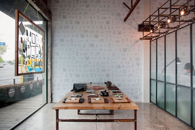 Display space for digital accessories sits adjacent to the workshop. | Duct Tape Workshop (Ponsonby Central, Auckland). | Photo by the talented Jeremy Toth | Fit out by Material Creative.
