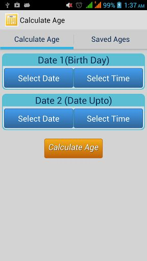 Online age calculator between two dates in Melbourne