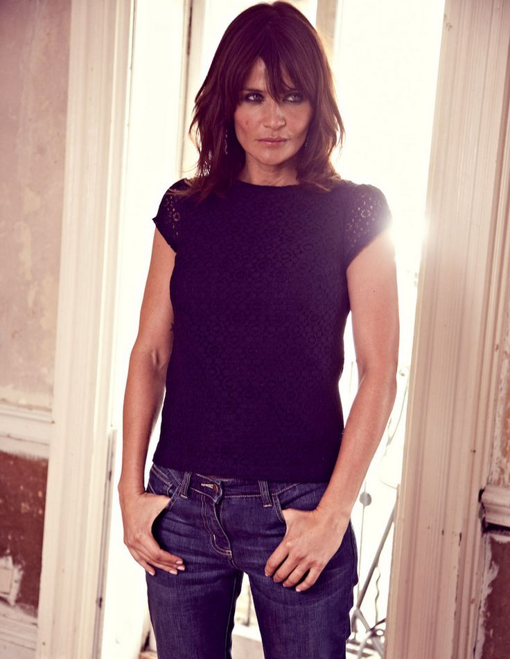 Helena Christensen for Boden Autumn 2012- long bob hair                                                                                                                                                                                 More