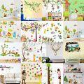 Owl Animal Wall Stickers Monkey Jungl...
