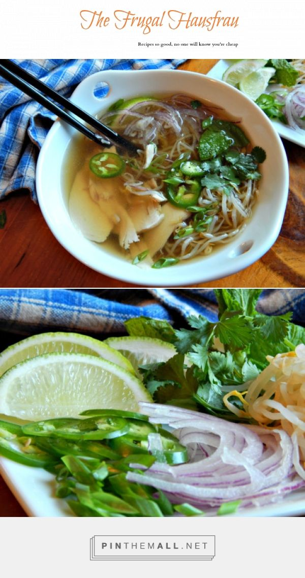 Pho Ga, Vietnamese Chicken Noodle Soup . The broth may make the soup, but the garnishes make the meal! The broth takes some time but is easy, and the slow simmering with charred onion and ginger and the aromatic spices - FANTASTIC! -