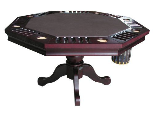 3 In 1 Game Table Octagon Bumper Pool Poker Dining With