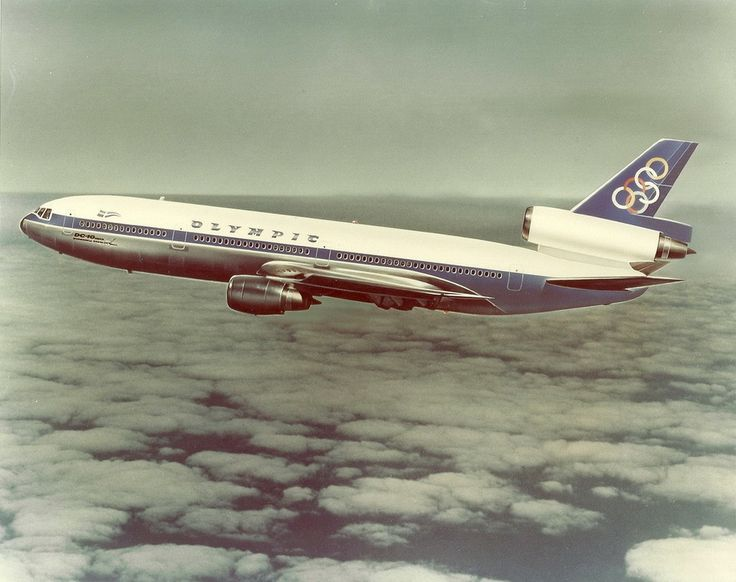 Olympic Airways McDonnell Douglas DC-10-10 in a retouched image utilised by the manufacturer in its sales pitch to the Greek flag carrier, circa 1970. Olympic eventually went with the Boeing 747 as its choice of widebody. (Photo: McDonnell Douglas)