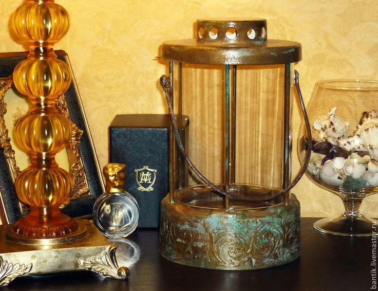 """Купить Подсвечник """"Модерн"""" - золотой, фонарь, фонарик, подсвечник, для свечи, декор для дома, для дома и интерьера"""