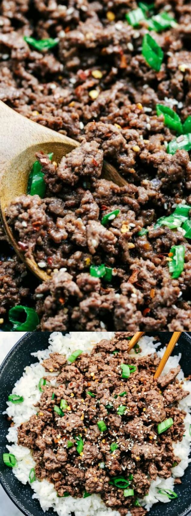 These Korean Ground Beef and Rice Bowls from The Recipe Critic are so incredibly easy to make! Asian flavors like brown sugar, soy sauce, and ginger take the beef to the next level!