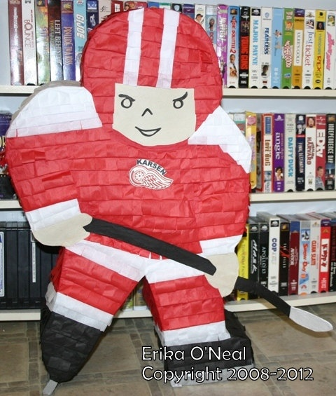 Hockey Player Pinata @Shari Southworth & @Stephanie Russell  Liam would love this!