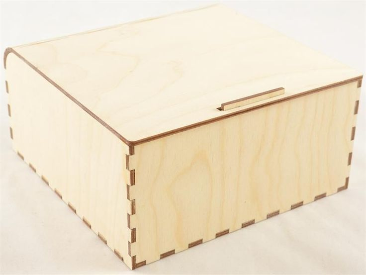 "Snap Fit Wood Box 6"" x 6"" x3""H"